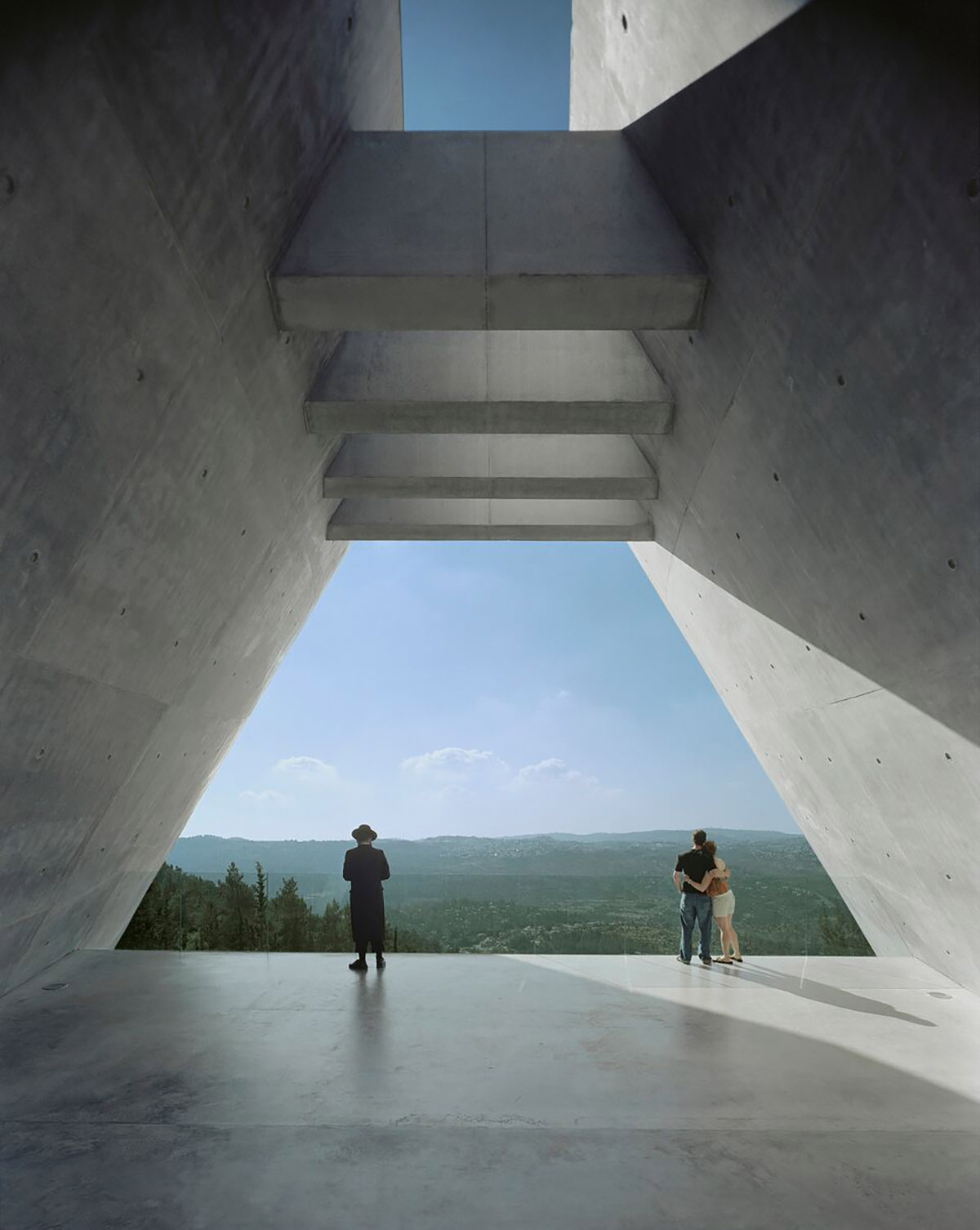Yad Vashem Holocaust Museum. View at end of prison. Image by Timothy Hursley.