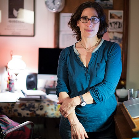 Sarah Koenig in her office in State College, PA on Tuesday December 1, 2015 for Serial. (Photo by Will Yurman)