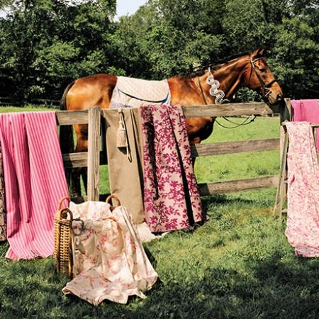 spring fabrics horses sq