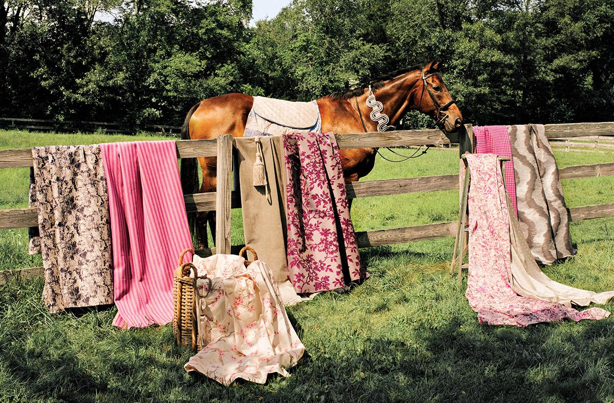spring fabrics horses