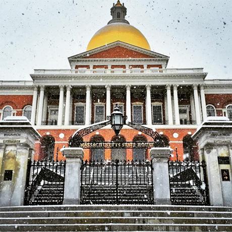 Snow in Boston
