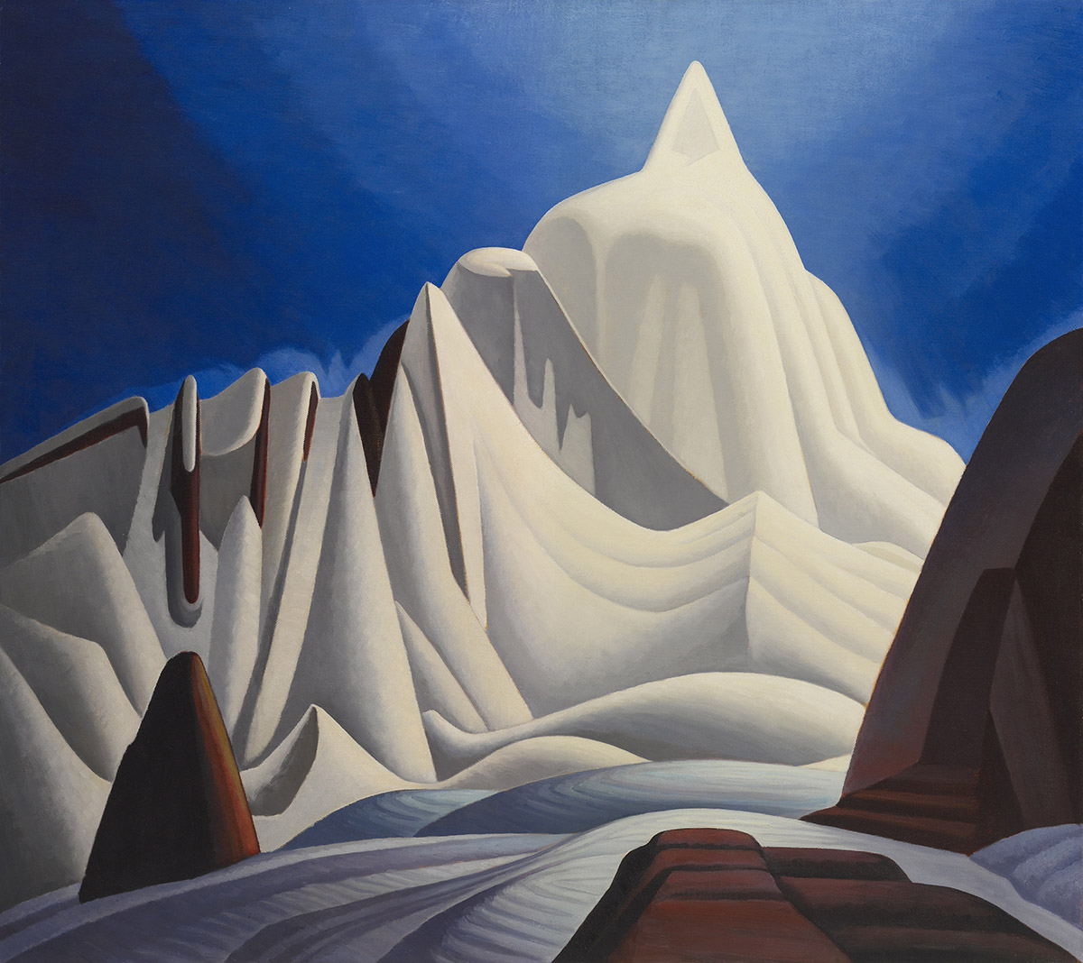 Mountains in Snow: Rocky Mountain Paintings by Lawren Harris / Image courtesy of the Museum of Fine Arts, Boston