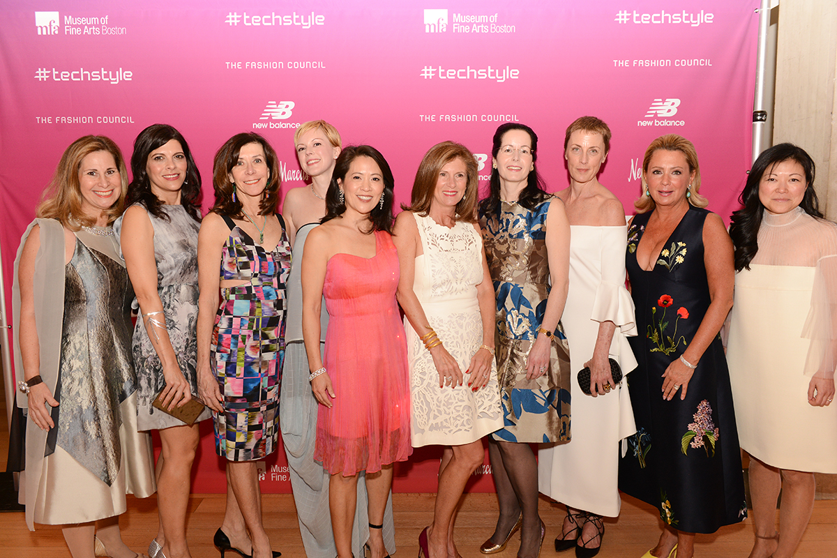 03. #techstyle co-curator Michelle Finamore with Fashion Council Advisory Committee Members (l-r) Patty Ribakoff, Kathy Stansky, Liana Krupp, Nancy Adams,