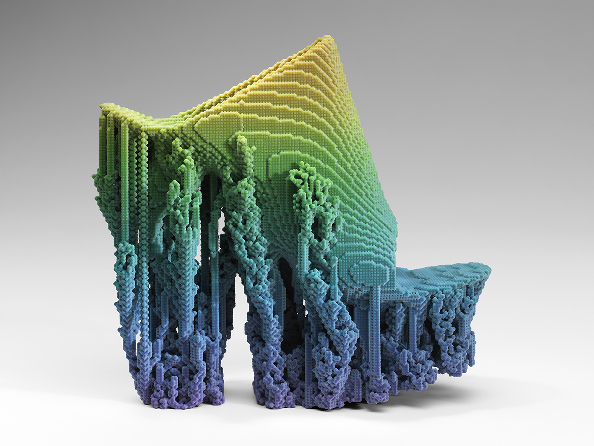 3D printed pair of shoes on show at the MFA