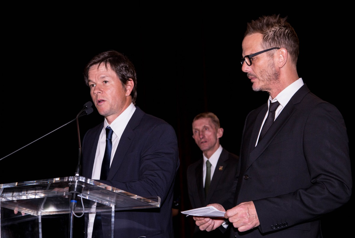 March 5, 2016, BOSTON - Mark Wahlberg appears at the 3rd Annual Boston Police Foundation Gala Saturday night at the Westin Boston Waterfront Hotel. Wahlberg presented the Hero's Award to Boston Police Officer John Moynihan who was shot last year. Photo by Alexandra Wimley