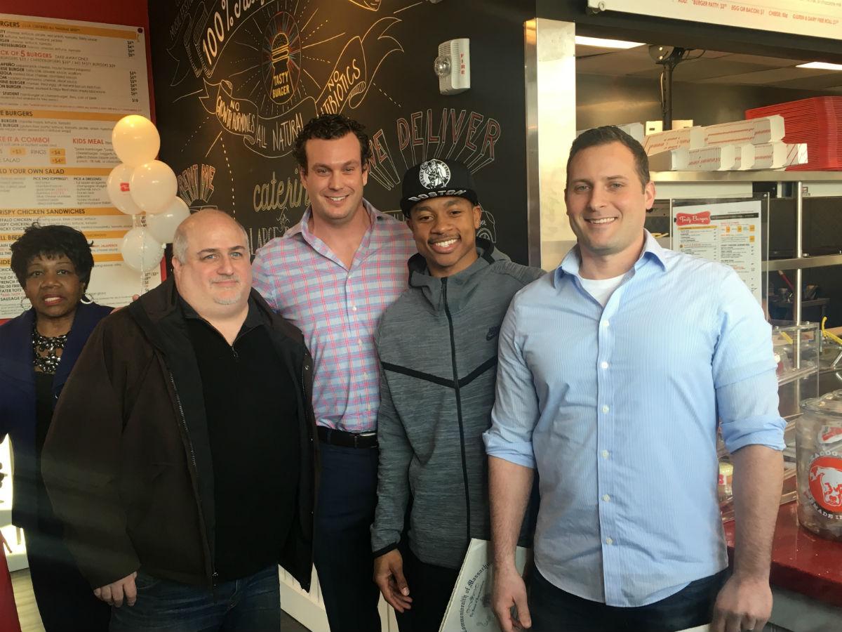 Tasty Burger executives and Celtics star Isaiah Thomas