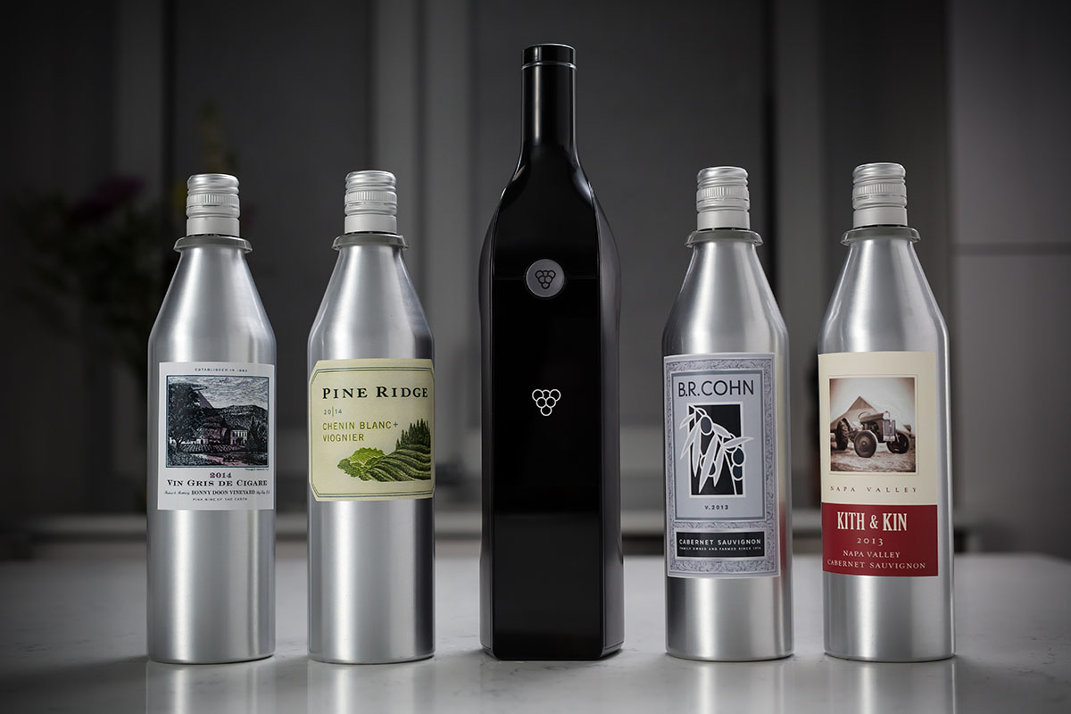 "he Kuvée ""smart wine bottle"" system"