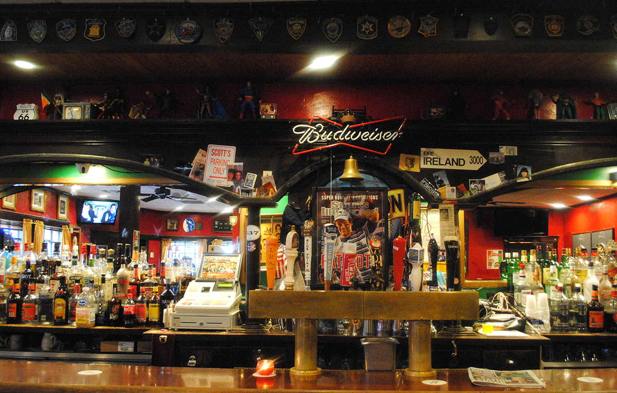 The bar at Murphy's Law in South Boston