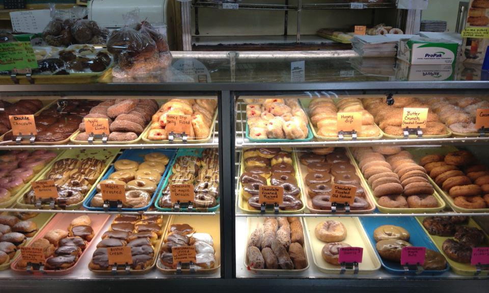Ohlin's Bakery doughnut case