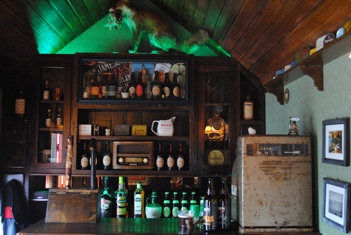 The bar inside the Connemara model of the Shebeen. / Photo by Madeline Bilis