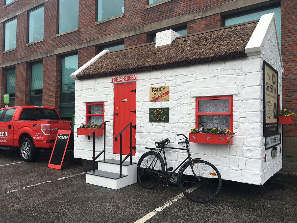 The Connemara model of the Shebeen, parked in Newton. / Photo by Jacqueline Cain