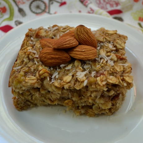 baked oatmeal square