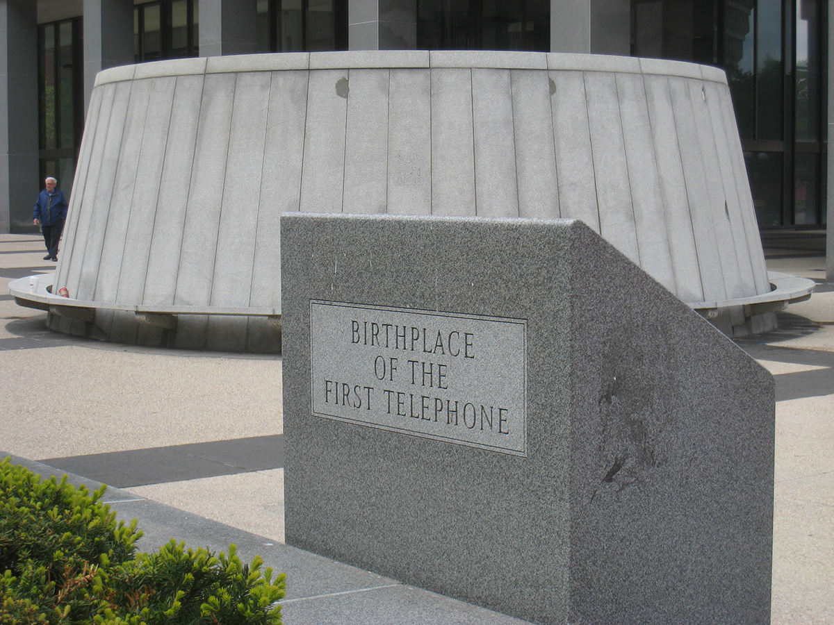 Birthplace of the first telephone photo via Wikimedia/Creative Commons
