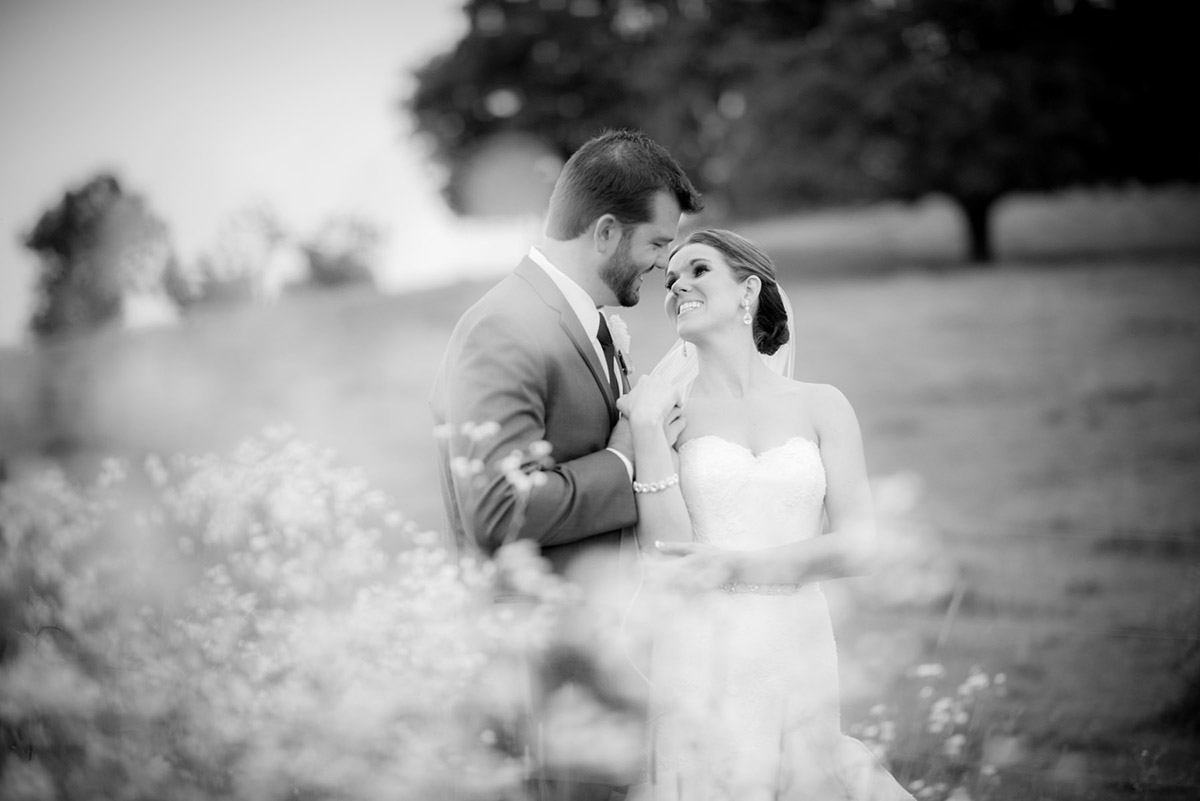Tim and Kristen wedding field shot