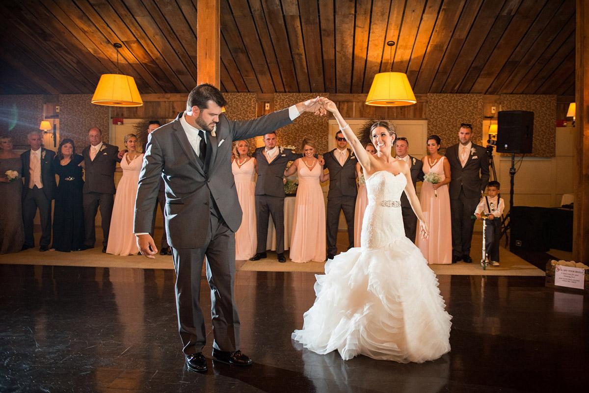 Tim and Kristen's first dance