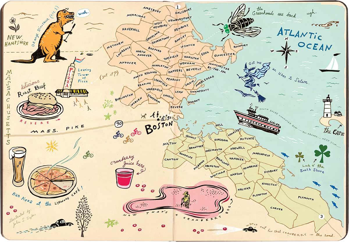 north shore vs south shore map