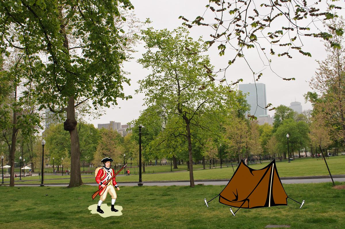 Boston Common photo via Wikimedia/Creative Commons / Illustration by Madeline Bilis