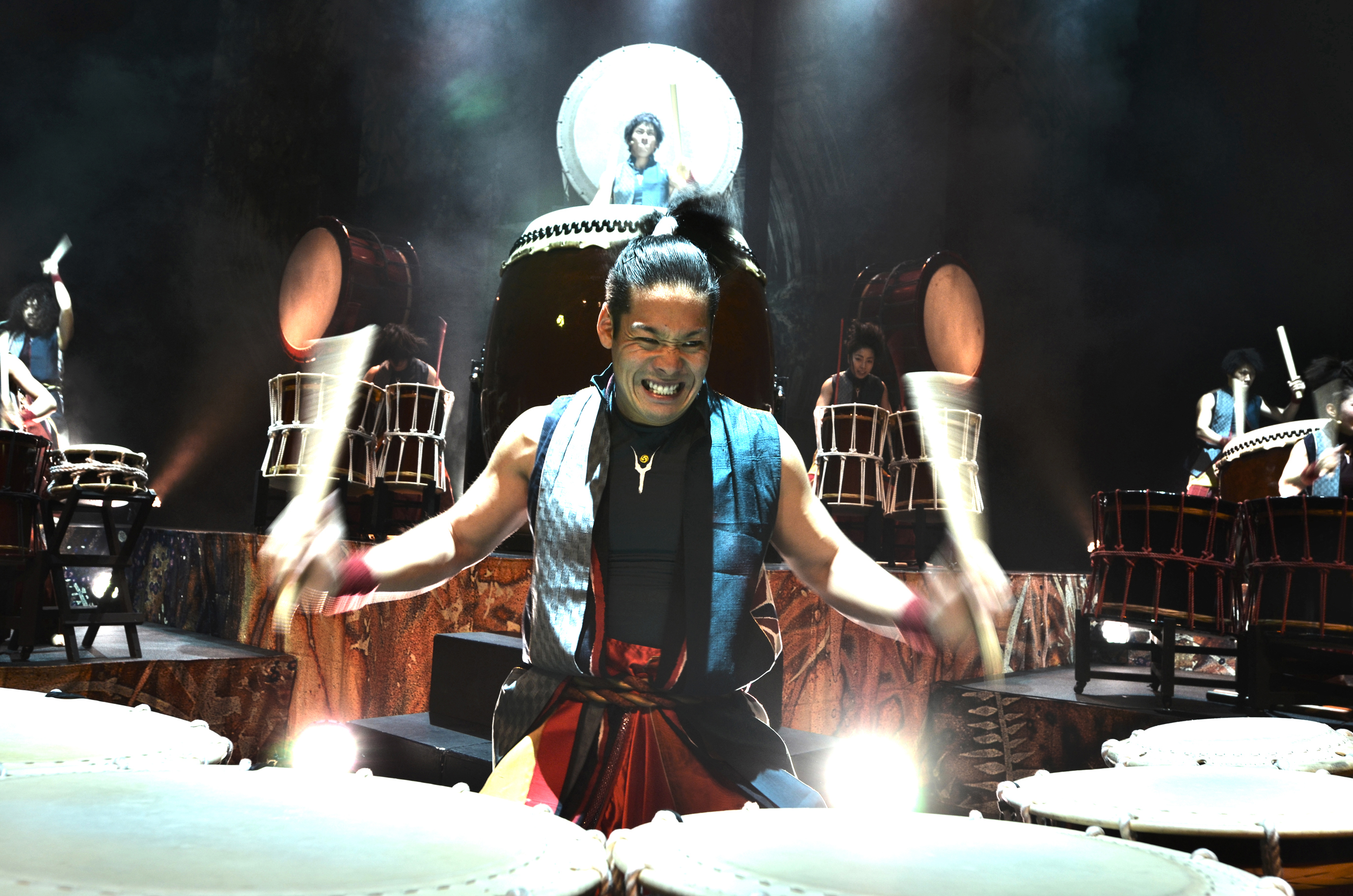 A drummer from Yamato onstage