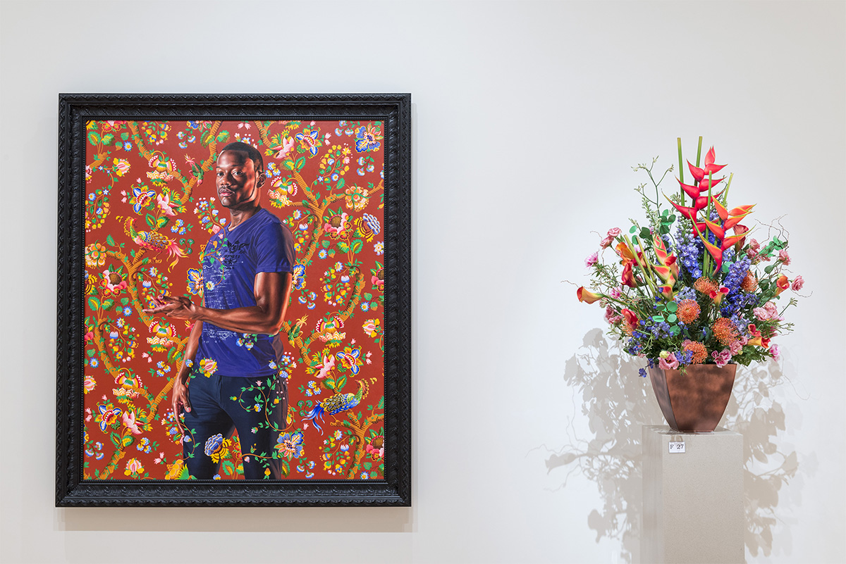 Art in Bloom, at the Museum of Fine Arts, Boston April 24, 2015 John, 1st Baron Byron Kehinde Wiley (American, born in 1977) 2013 Oil on canvas *Museum of Fine Arts, Boston. Juliana Cheney Edwards Collection, The Heritage Fund for a Diverse Collection and funds donated by Stephen Borkowski in honor of Jason Collins *© Kehinde Wiley Studio *Photograph © Museum of Fine Arts, Boston