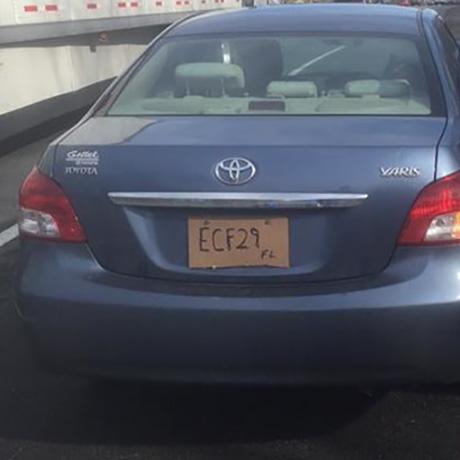 495 cardboard license plate sq