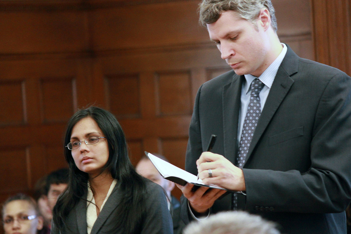 Annie Dookhan in Norfolk Superior Court with her attorney, Nick Gordon in 2013. Photo by Joe Spurr via Flickr/Creative Commons
