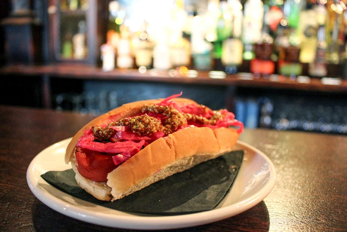 Brass Union's Kobe Beef Hot Dog. / Photo provided