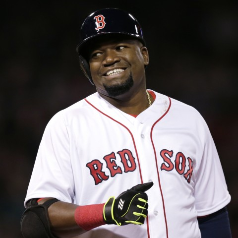 Boston Red Sox designated hitter David Ortiz during the sixth inning of a baseball game at Fenway Park in Boston, Wednesday, April 27, 2016. (AP Photo/Charles Krupa)