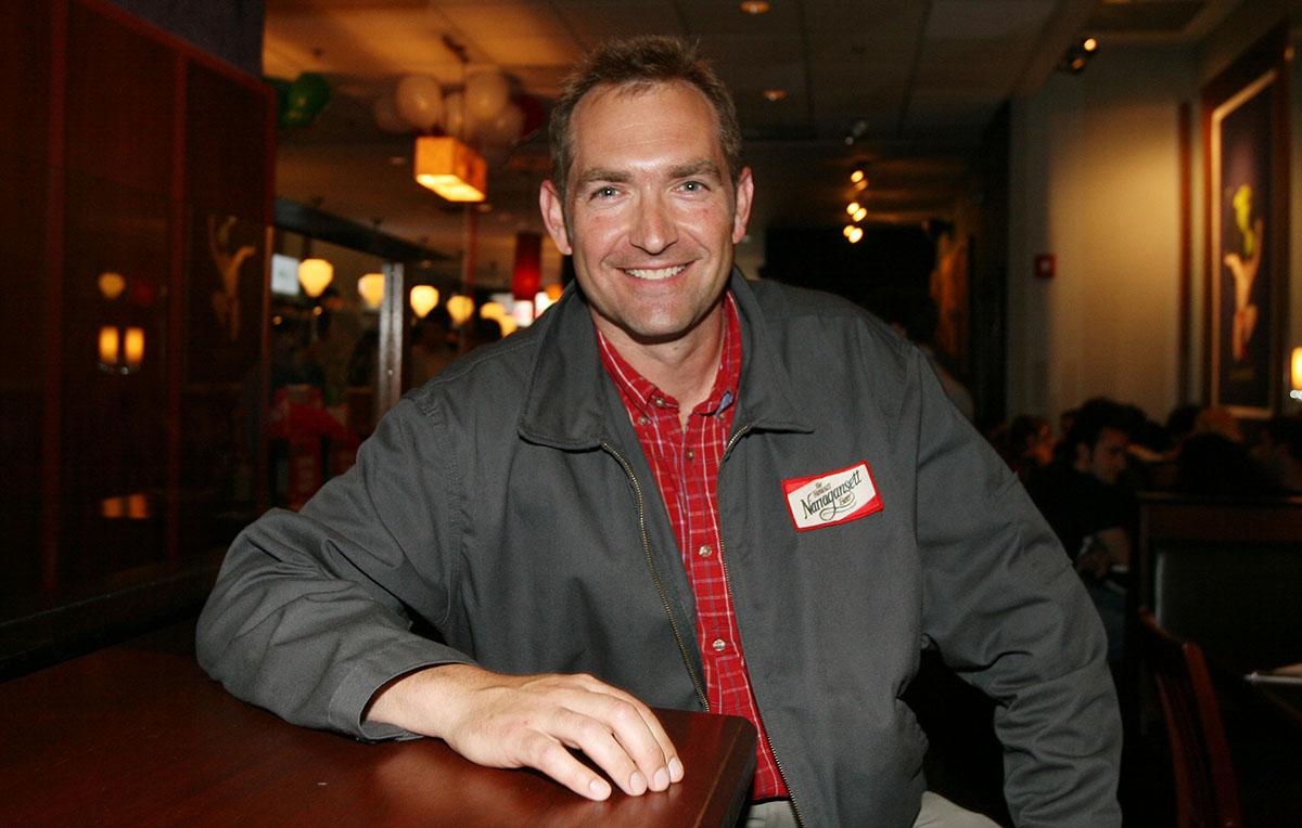 Narragansett Beer president Mark Hellendrung