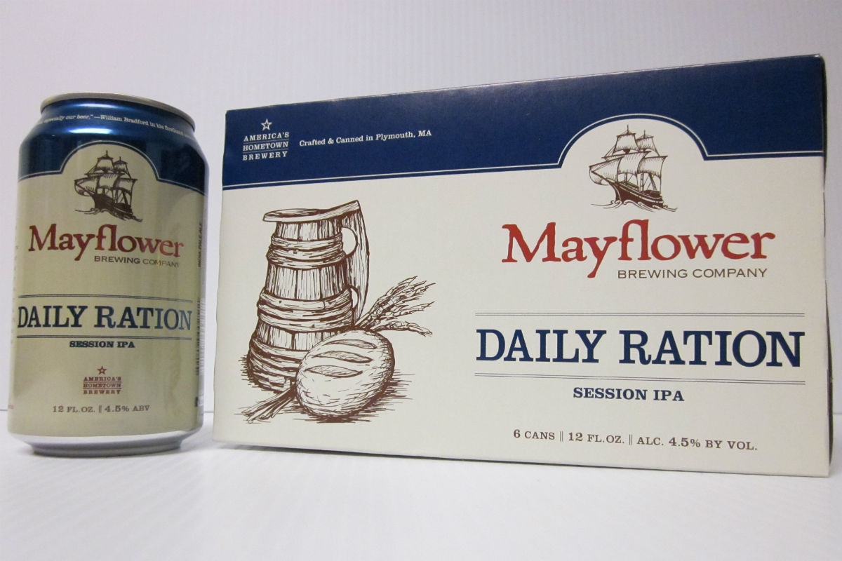 Mayflower Brewing Daily Ration in cans