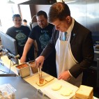Mayor Marty Walsh at Roxy's Grilled Cheese