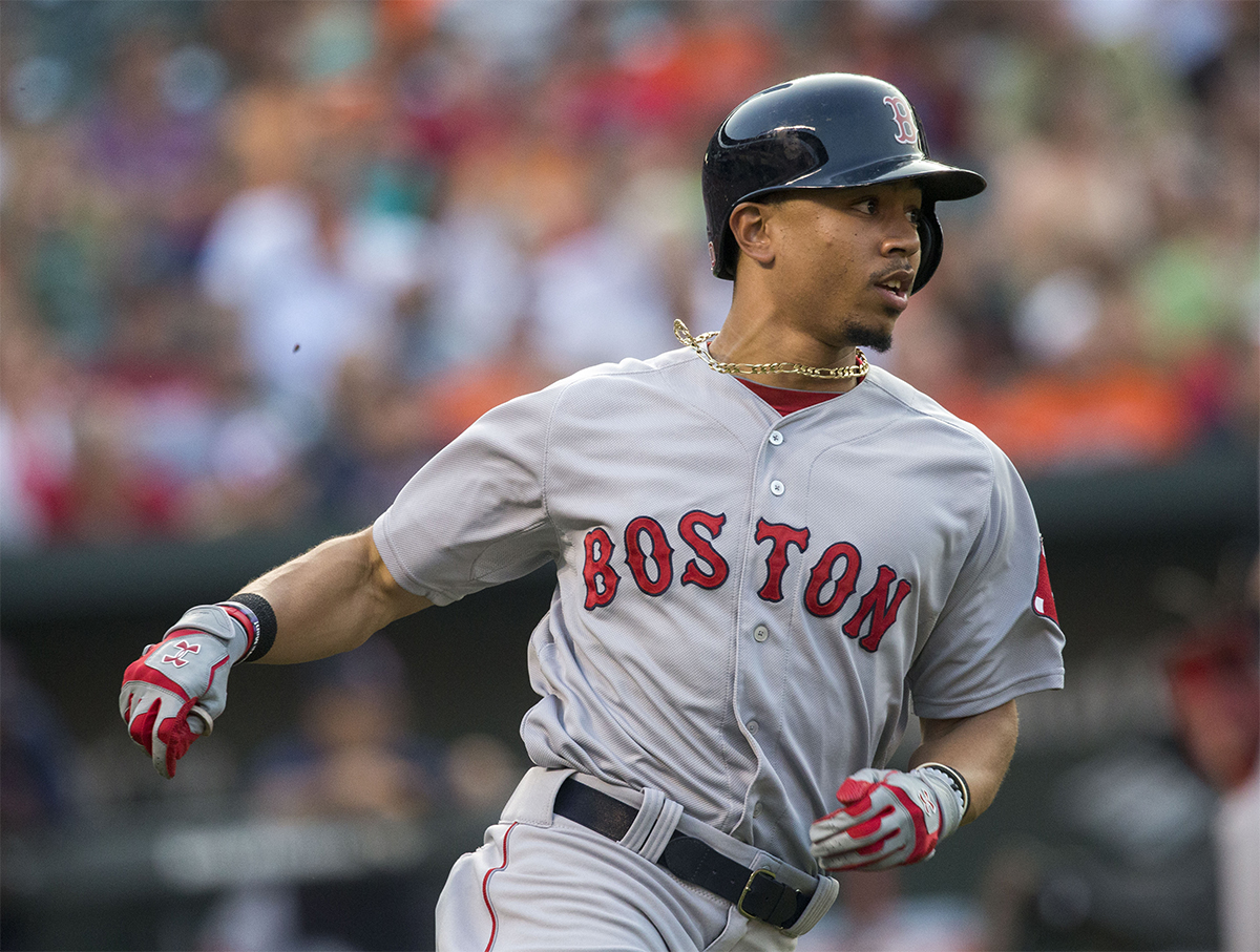 Mookie Betts by Keith Allison on Flickr/Creative Commons