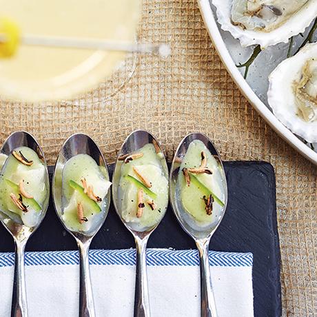 Recipe Black Bass Ceviche with Green-Garlic Leche de Tigre