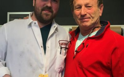 Savenor's chef-butcher Colby Bergeron and owner Ron Savenor at Savenor's Cambridge