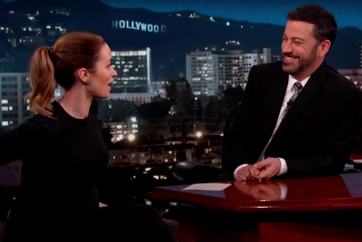Emily Blunt on 'Jimmy Kimmel Live' Photo by 'Jimmy Kimmel Live' via Youtube / Screenshot