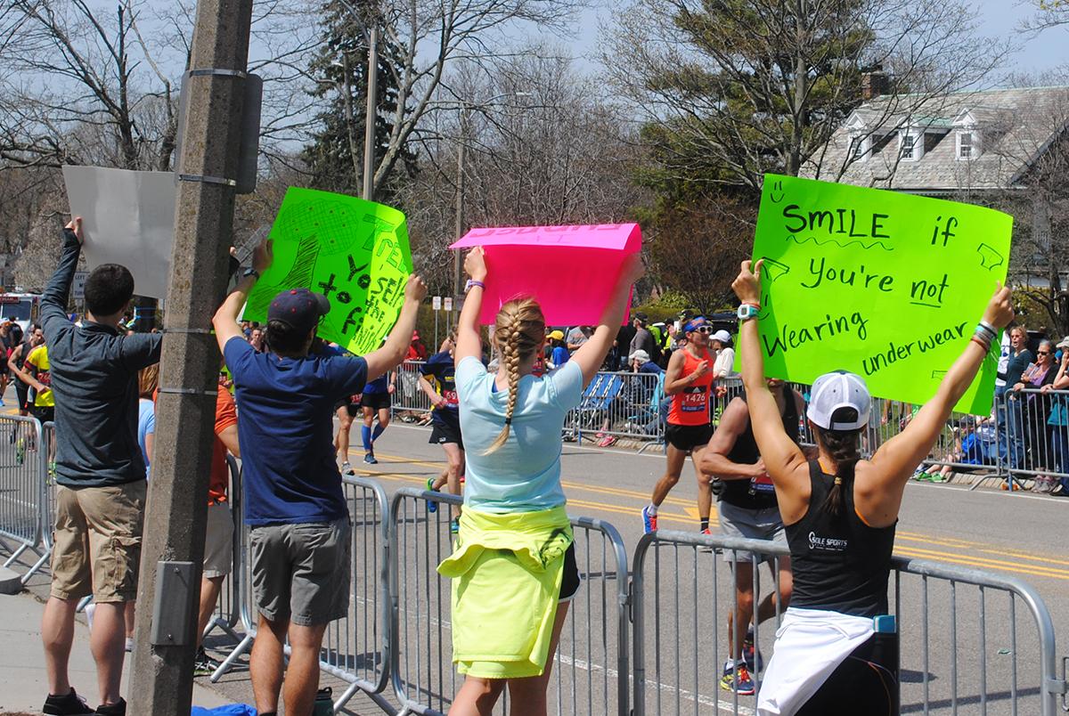 boston marathon signs 4d