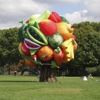 Fruit Tree 	Choi Jeong Hwa (Korean) 	2014 	Fabric, electric air pump, motor, timer, steel frame 	*Photo courtesy Choi Jeong Hwa 	*© Choi Jeong Hwa / Park Ryu Sook Gallery