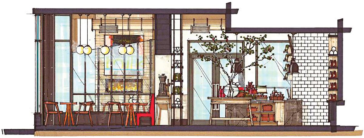 george-howell-coffee-downtown-boston-rendering