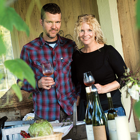 Deirdre Heekin and Caleb Barber operate Osteria Pane E Salute in Woodstock, Vermont. They make wine and raise many vegetables they use in their restaurant.