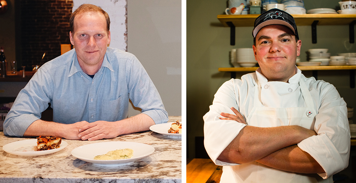 Deadhorse Hill co-owners Sean Woods (L) and chef Jared Forman