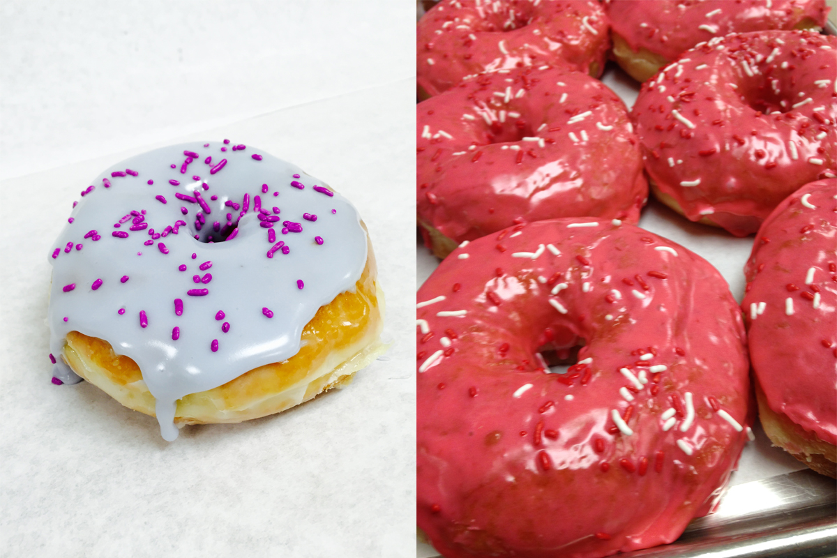 Kane's Donuts lavender and rosewater
