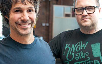 Chefs Ken Oringer (L) and Jamie BIssonnette