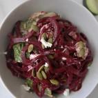 Beet noodle salad