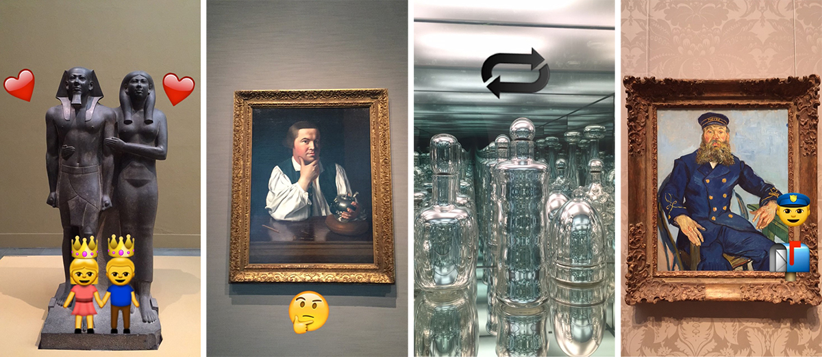 Snapchats provided by the Museum of Fine Arts Boston