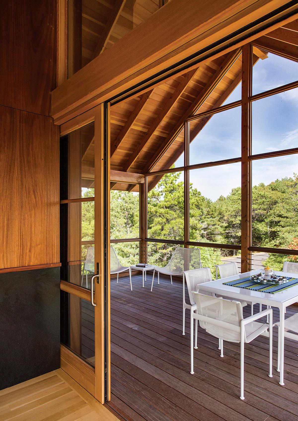 contemporary house truro deck
