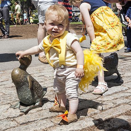 duckling day parade boston public garden sq