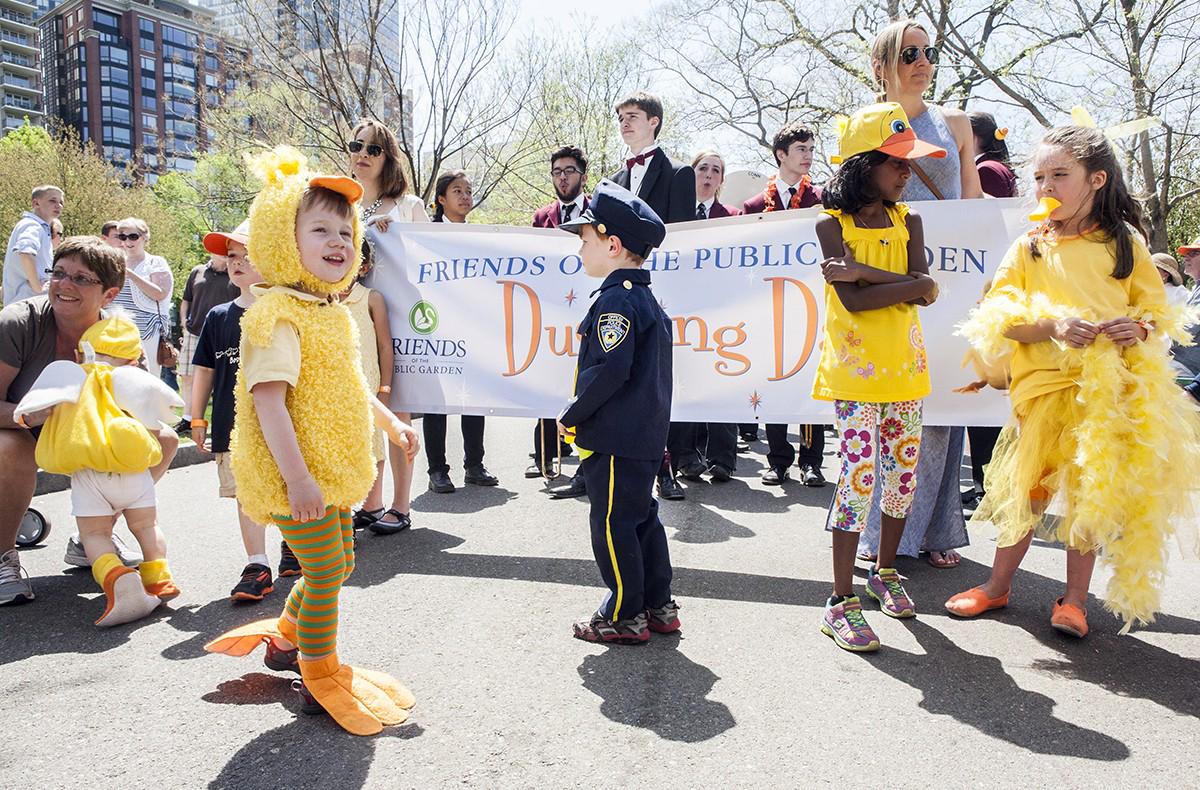 duckling day parade boston public garden