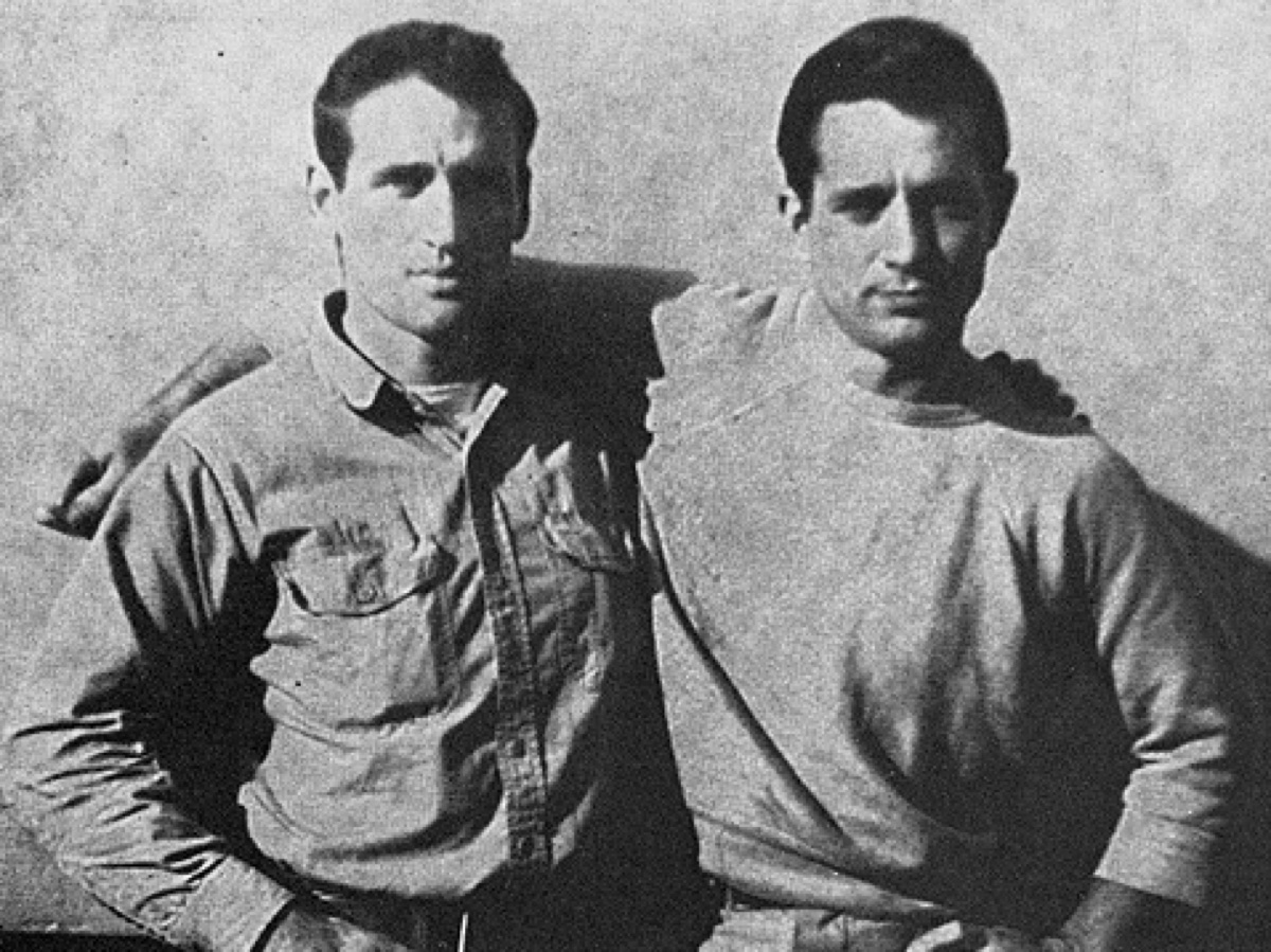 Cassady and Kerouac. Photo via Wikimedia Commons
