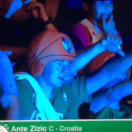 Celtics fan square
