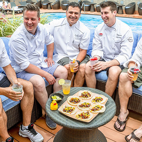 Chefs at the Colonnade Rooftop Pool