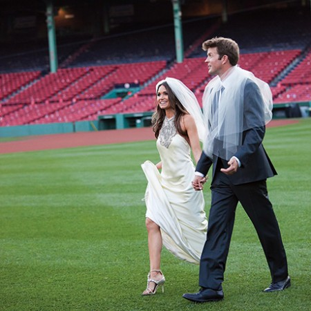 Johnny Lonborg Vanessa Macedo Wedding Fenway Park sq